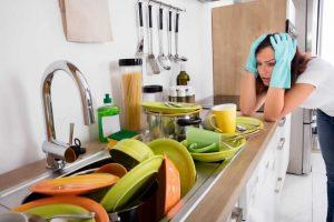 Nunca deixe louça na pia para lavar no dia seguinte